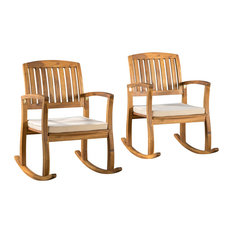 Charming Gdfstudio Sadie Rocking Chairs With Cushions Set Of Outdoor Rocking Chairs  With Outdoor Rocking Chairs Under 100