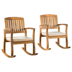 Craftsman Outdoor Rocking Chairs by GDFStudio