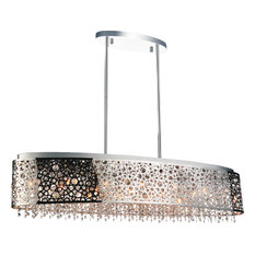 "46"" 16-Light Chandelier With Chrome Finish"
