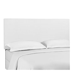 Modway Taylor Upholstered Linen Twin Headboard In White