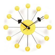 stilnovo ball clock yellow ball yellow wall clocks