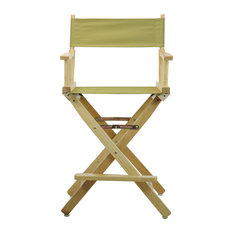 "24"" Director's Chair With Natural Frame, Olive Canvas"