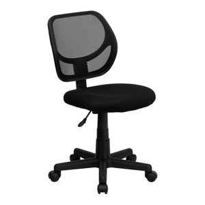 Flash Furniture Mid-Back Black Mesh Task Chair And Computer Chair