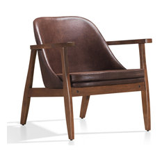 Cole Lounge Accent Chair, Brown