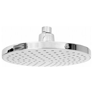 Enki Large Fixed Shower Head Modern, 204 mm, Chrome Effect
