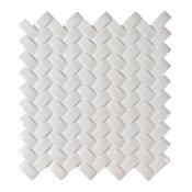 Whisper White Arched Herringbone Glossy, Sample