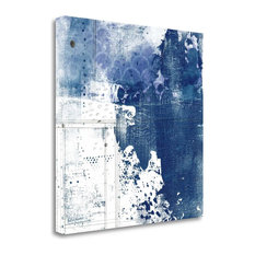 """""""Navy Abstract I"""" By Sarah Ogren, Giclee Print on Gallery Wrap Canvas"""