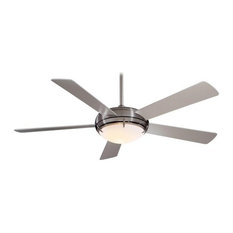 "Minka Aire - 54"" Como Ceiling Fan, Brushed Nickel - Ceiling Fans"