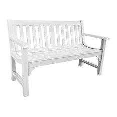 Charleston Bench in Glossy White