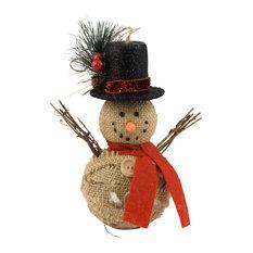 Jute Snowman Ornaments, Set of 4