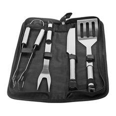 Natico - 5-Piece Stainless Steel BBQ Tool Set - Grill Tools & Accessories