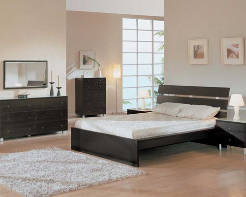 Elegant Wood Modern Master Bedroom Set with Extra Storage - Bedroom  Furniture Sets