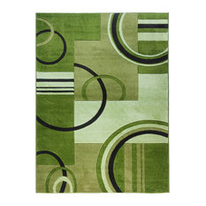 "Well Woven Ruby Galaxy Waves Rug, Green, 7'10""x9'10"""
