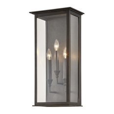 """Troy Lighting B6993 Chauncey 3 Light 24"""" Tall Outdoor Wall Sconce - Vintage"""