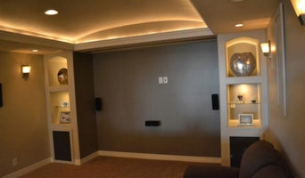 Custom basement with barreled ceiling