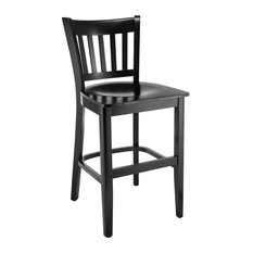 Beechwood Mountain Vertical 24-inch Wooden Counter Stool In Black