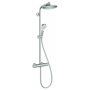 Shower System With Thermostatic Control With 2 Spray Modes, Modern Design
