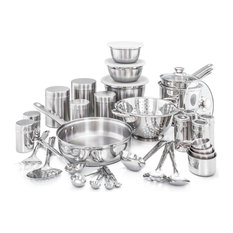 """36 Piece """"Kitchen in a Box"""" Stainless Steel Cookware Set"""