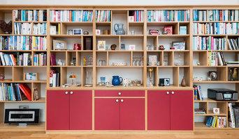 Modern Oak Dresser with Farrow and Ball Radiccio Doors