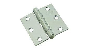 """National Mfg. 2-1/2"""" Stainless Steel Square Door Hinge N276972"""