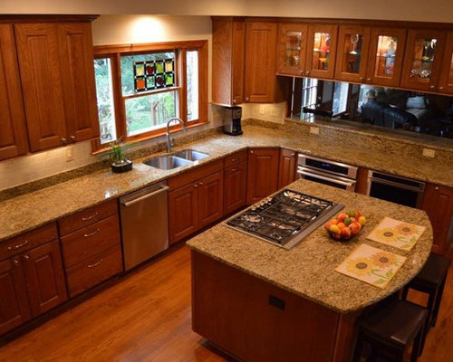 Kitchen Remodel With Oak Thomas Cabinets In Chestnut Stain