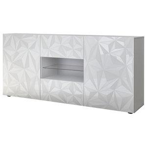 Prisma Decorative Sideboard, 181 cm, White