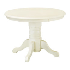 Home Styles   Round Pedestal Dining Table, White   Dining Tables