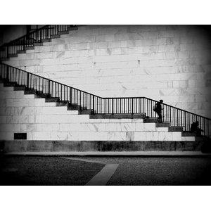 """Escaliers"" Photo Print, Art Poster, 75x100 cm"