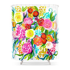 Bright Colored Shower Curtains Houzz