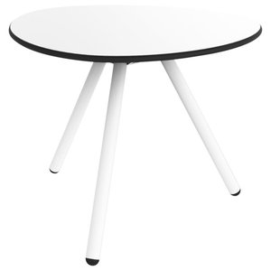 A-Lowha Side Table, White, White Frame