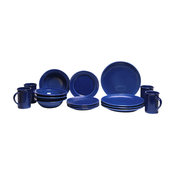 American Blue Coupe Dinner Set for 4