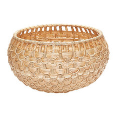 Dimond Home Medium Natural Fish Scale Basket 466046