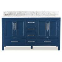 """Kendall Blue Bathroom Vanity, 60"""""""