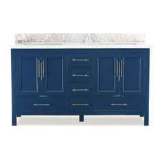 Kendall Blue Bathroom Vanity, 60""