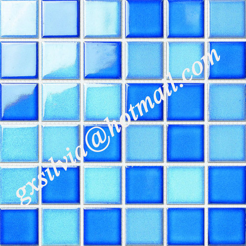 Swimming pool tiles crystallized glazed mosaic ice for Swimming pool ceramic tile
