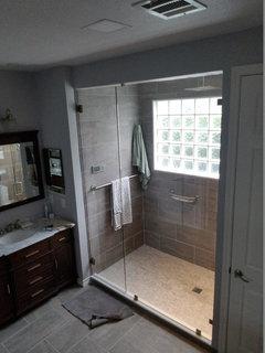 Towel Bar Inside A Shower Stall