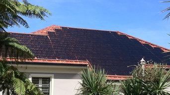 Thermotube pool heating on older terracotta roof tiles