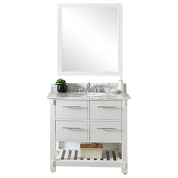 Transitional Bathroom Vanities And Sink Consoles by inFurniture Inc.,