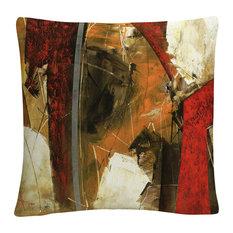 "Masters Fine Art 'Abstract IX' 16""x16"" Decorative Throw Pillow"