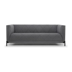 Isaak 3-seat in Shadow Grey Velour by Nuevo