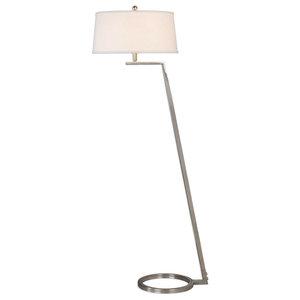 Uttermost Tanaro Grooved Glass Floor Lamp Transitional