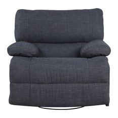 Divano Roma Furniture   Classic And Traditional Dark Gray Fabric Oversize  Recliner   Recliner Chairs