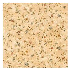 Taupe Antique Floral Vine Wallpaper Bolt