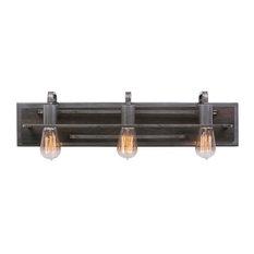 Lofty Three Light Bath Vanity Steel