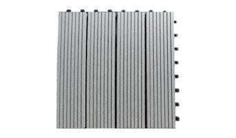 "12""x12"" Composite Concrete Grey Interlocking Deck Tiles, Set of 10"