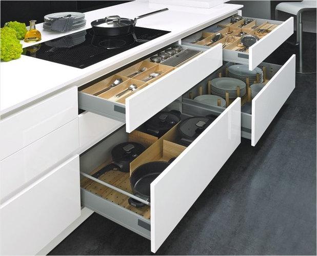 Modern Kitchen Drawer Dividers by KITCHENEX