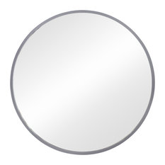 Hub Wall Mirror, Gray, 37""
