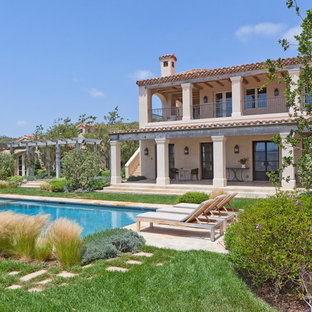 Inspiration for a mediterranean backyard landscaping in Orange County.