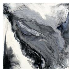 "Approaching Fine Art Giant Canvas Print, Gray, White, 54""X54"""