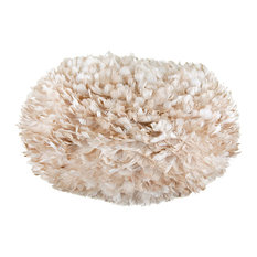 Vita Eos Extra Large Feather Lamp Shade, Brown